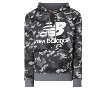 Relaxed Fit Hoodie mit Camouflage-Muster