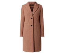 Mantel mit Fischgrat-Dessin