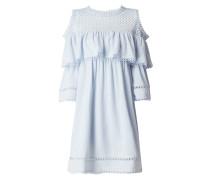 Cold Shoulder Kleid mit Häkelspitze