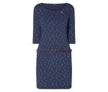 Jerseykleid mit Allover-Muster