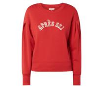 Sweatshirt mit Kellerfalten