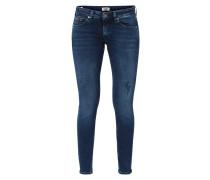 Low Rise Skinny Fit Jeans mit Used-Effekten