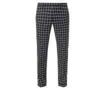 Slim Fit Anzug-Hose mit Gitterkaro