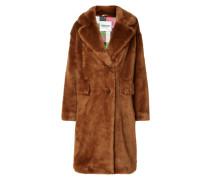 Mantel aus Faux Fur mit Pattentaschen