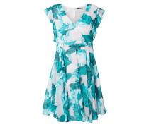 Kleid aus Chiffon mit Schmuckdetails