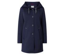 Mantel aus Scuba mit Kapuze