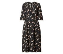 Vokuhila Kleid mit Allover-Muster