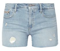 5-Pocket-Jeansshorts mit Destroyed-Effekten