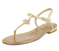Sandalen aus Leder in Gold-Optik Modell 'Elmstead'