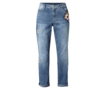 Stone Washed Loose Fit 5-Pocket-Jeans