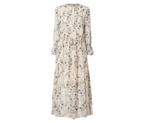 Blusenkleid aus Viskose mit floralem Muster