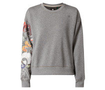 Sweatshirt mit floralem Logo-Print