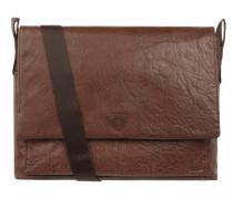 Messenger Bag aus Leder mit Laptopfach