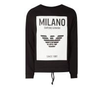 Sweatshirt mit gummiertem Logo-Aufnäher