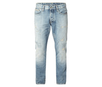 Destroyed Straight Tapered Fit 5-Pocket-Jeans