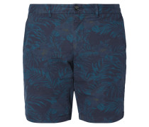Chinoshorts mit Allover-Muster