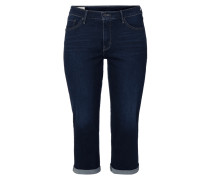 Light Stone Washed Shaping Caprijeans
