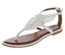 Sandalen aus Leder mit Volantbesatz