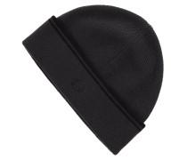 Mütze aus Wolle mit Logo-Stickerei