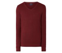 Pullover aus strukturierter Bio-Baumwolle