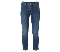 Cropped Slim Fit Jeans mit Stretch-Anteil
