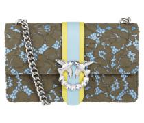 Crossbody Bag aus Leder mit Spitzenbesatz