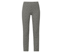 Slim Fit Trackpants mit grafischem Muster