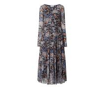 Kleid aus Mesh mit Dreiviertelärmeln