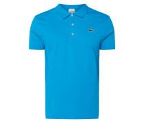 Slim Fit Sport-Poloshirt mit Logo-Badge