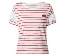 Shirt mit Aufnäher und Streifenmuster