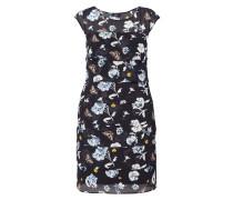 Kleid im Stufen-Look mit Allover-Muster