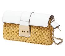 Handtasche mit Überschlag aus echtem Leder