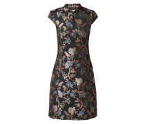 Kleid aus Brokat mit floralem Muster