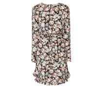 Kleid aus Krepp mit Blumenmuster