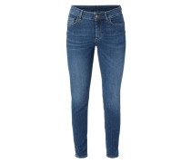 Stone Washed High Waist Skinny Fit Jeans