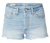 5-Pocket-Jeansshorts im Used Look