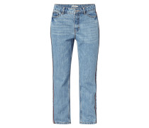 Girlfriend Fit Track Pants aus Denim