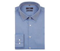 Slim Fit Business-Hemd mit Twill Struktur