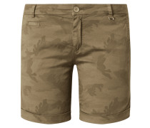 Shorts mit Camouflage-Muster