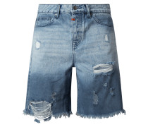 Straight Fit Jeansshorts aus Baumwolle Modell 'Mex'