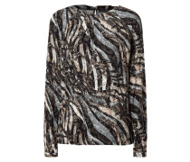 Blusenshirt aus Viskose mit Allover-Muster