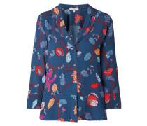 Bluse mit floralem Muster im Pyjama-Look