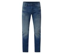 Slim Fit Jeans mit Logo-Stickereien