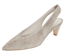Sling Pumps aus Veloursleder