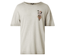 T-Shirt im Washed Out Look Modell 'Ice Cream'