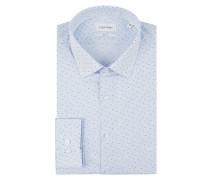 Slim Fit Business-Hemd mit feinem Muster