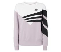 Oversized Sweatshirt mit Kontrasteinsatz