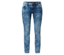 Slim Fit Jeans aus Sweat Denim