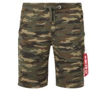 X-Fit Sweatshorts mit Camouflage-Muster