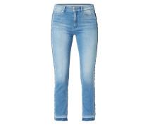 Stone Washed Jeans mit Kontraststreifen